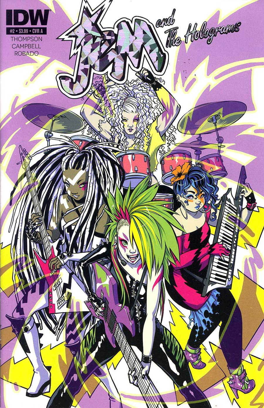 Jem And The Holograms #2 Cover A Regular Ross Campbell Band Cover