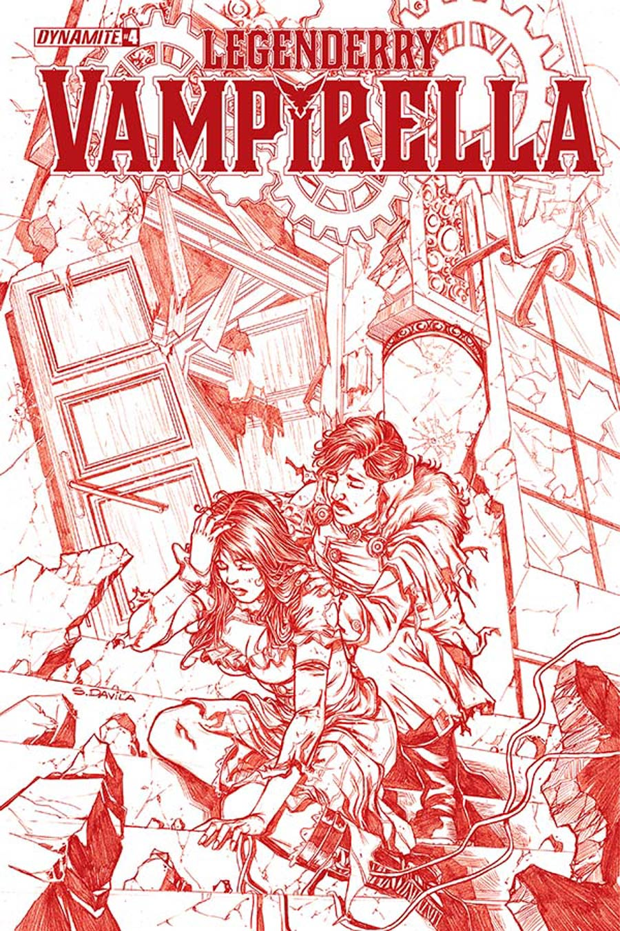 Legenderry Vampirella #4 Cover D High-End Sergio Fernandez Davila Blood Red Ultra-Limited Variant Cover (ONLY 50 COPIES IN EXISTENCE!)