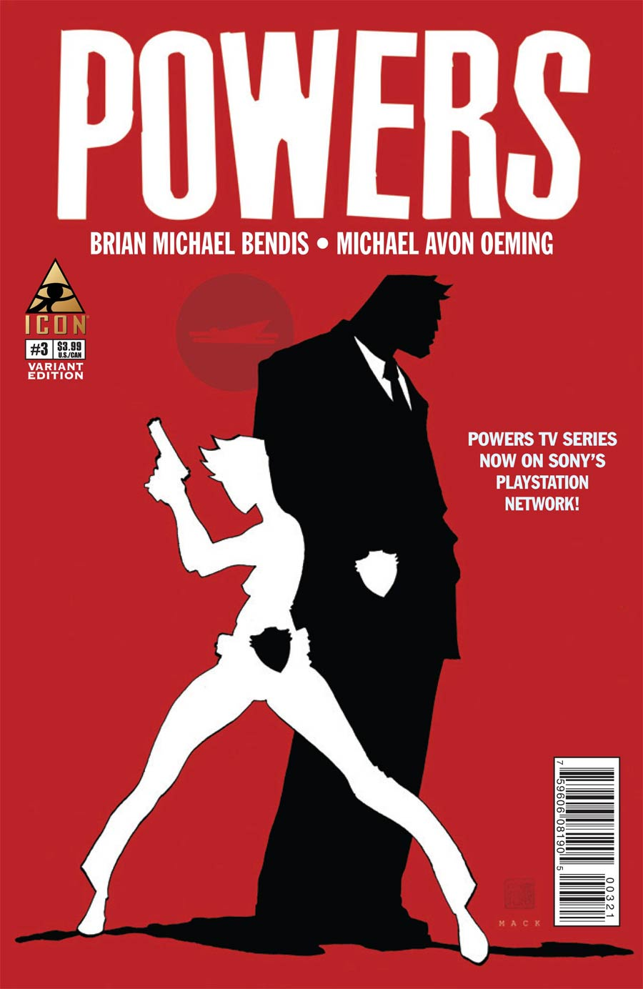Powers Vol 4 #3 Cover C Incentive David Mack Variant Cover