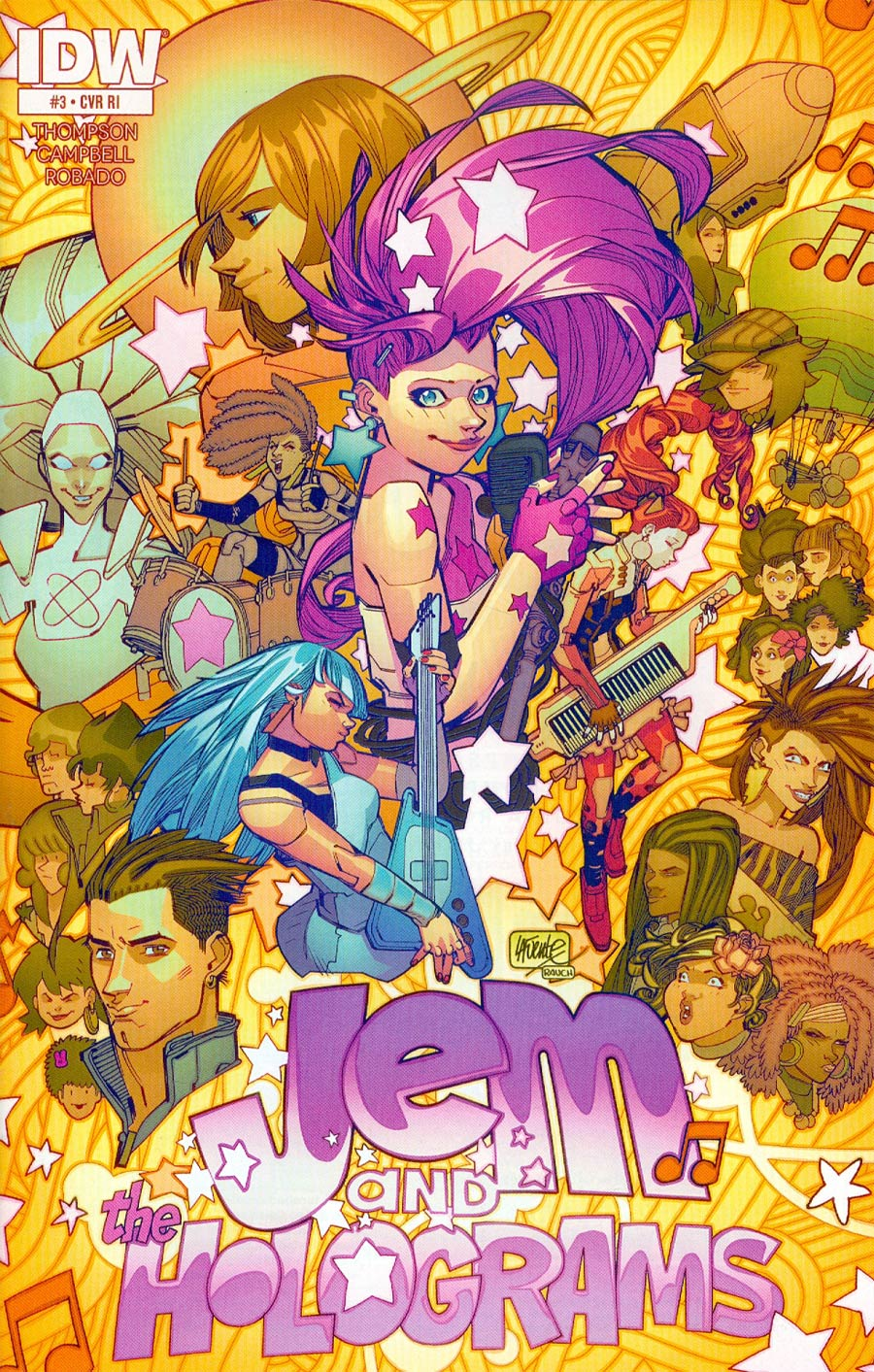Jem And The Holograms #3 Cover C Incentive David Lafuente Variant Cover