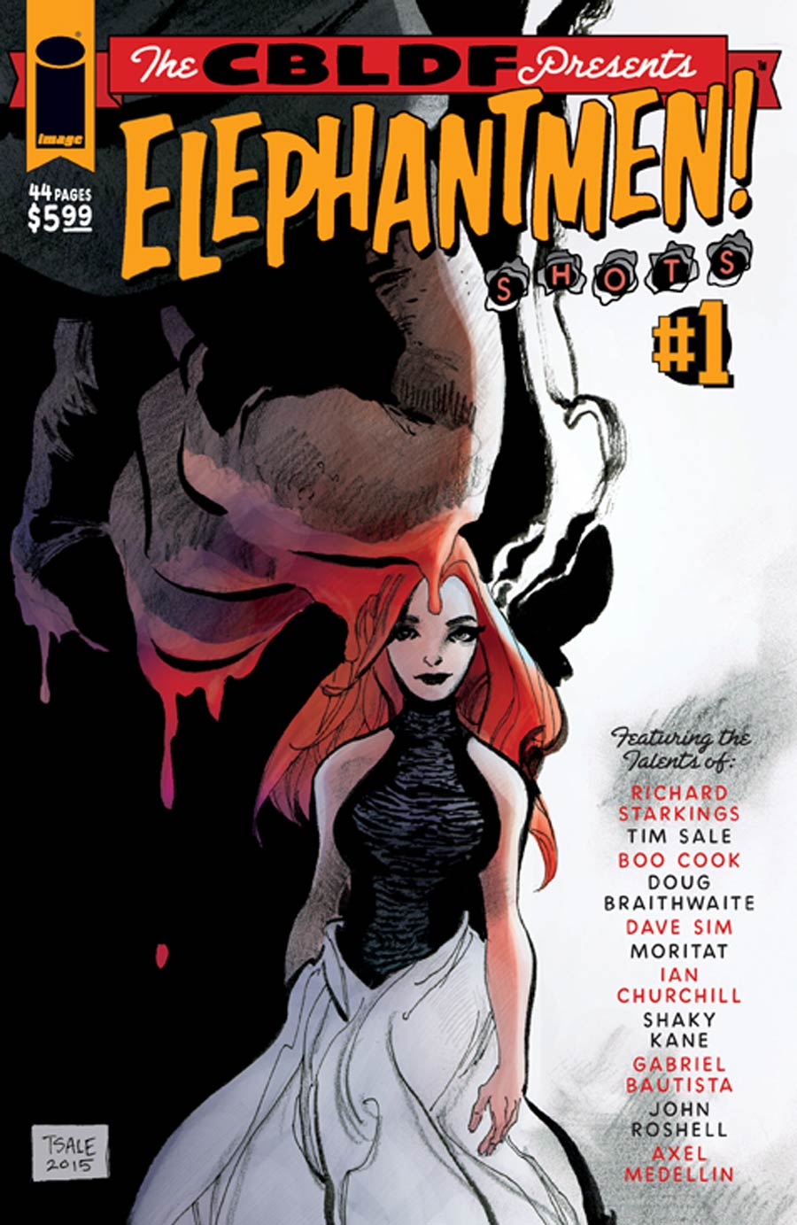 CBLDF Presents Elephantmen Shots #1 Cover B Variant Tim Sale & Boo Cook Cover