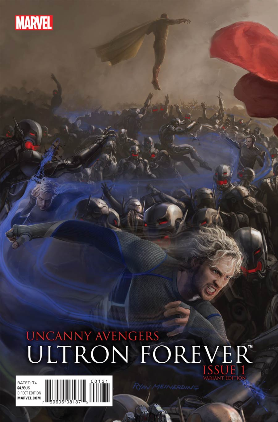 Uncanny Avengers Ultron Forever #1 Cover B Avengers Age Of Ultron Movie Connecting G Variant Cover (Ultron Forever Part 3)