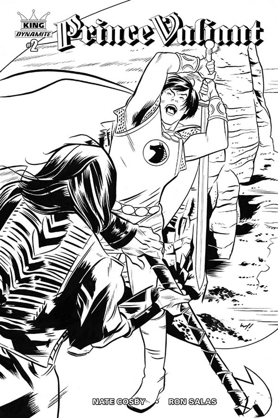 King Prince Valiant #2 Cover D Incentive Wilfredo Torres Black & White Variant Cover