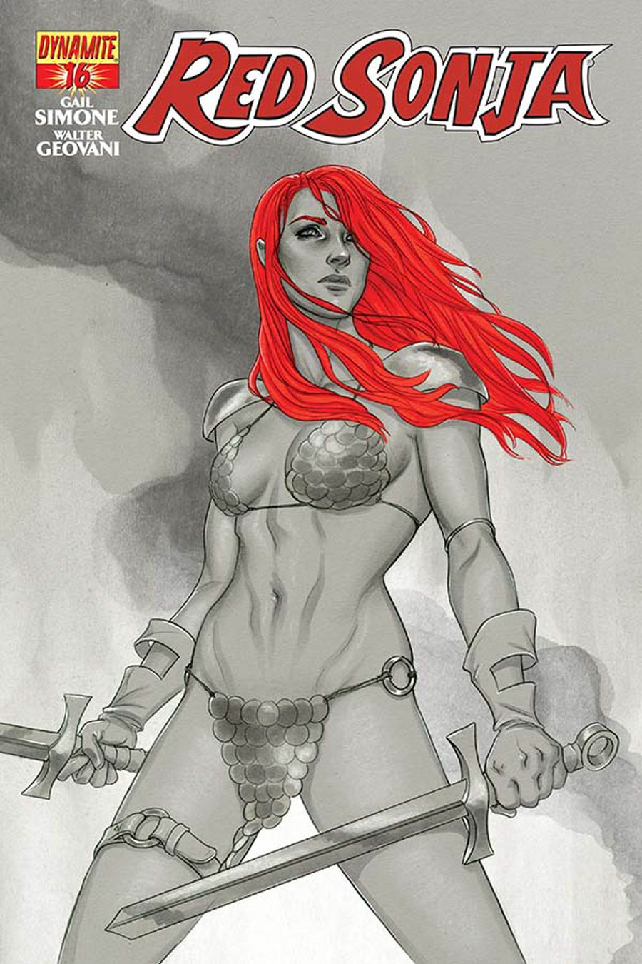Red Sonja Vol 5 #16 Cover D Incentive Jenny Frison Black & White Cover