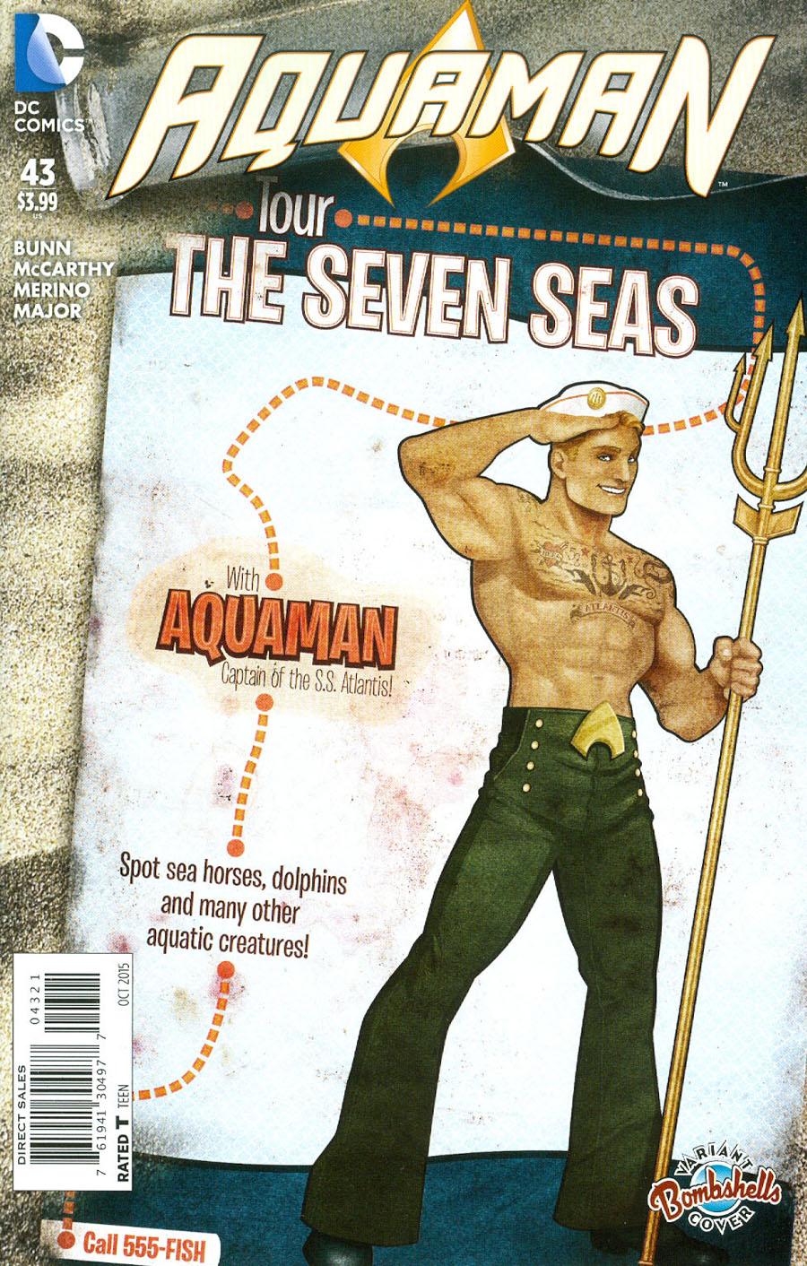 Aquaman Vol 5 #43 Cover B Variant Ant Lucia DC Bombshells Cover