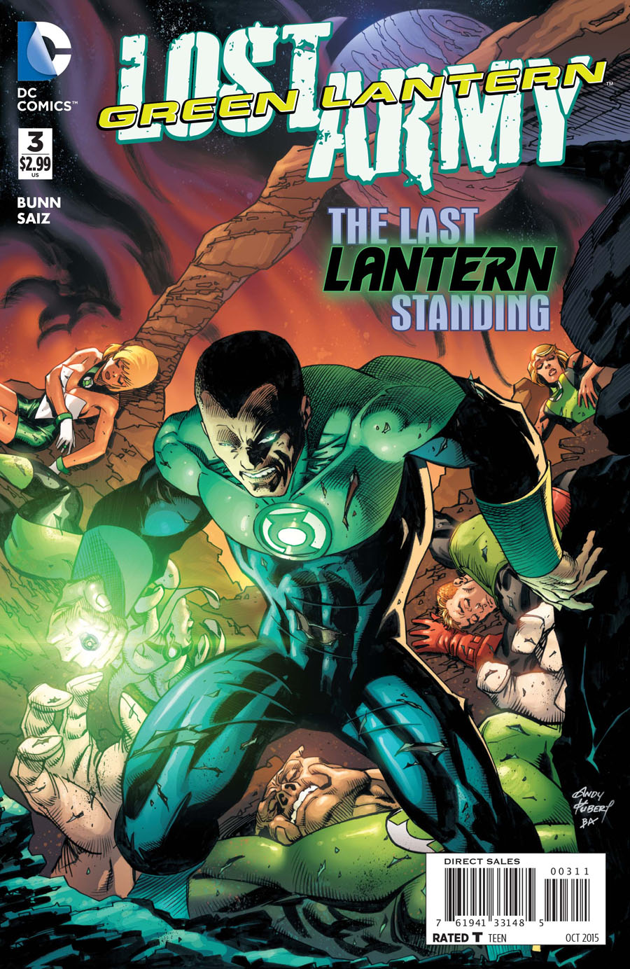 Green Lantern The Lost Army #3 Cover A Regular Andy Kubert Cover