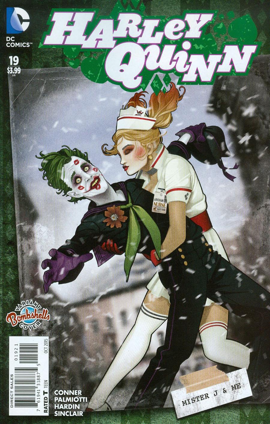 Harley Quinn Vol 2 #19 Cover B Variant Ant Lucia DC Bombshells Cover