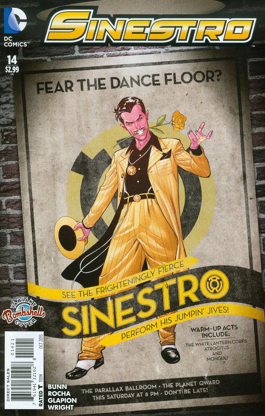 Sinestro #14 Cover B Variant Emanuela Lupacchino DC Bombshells Cover