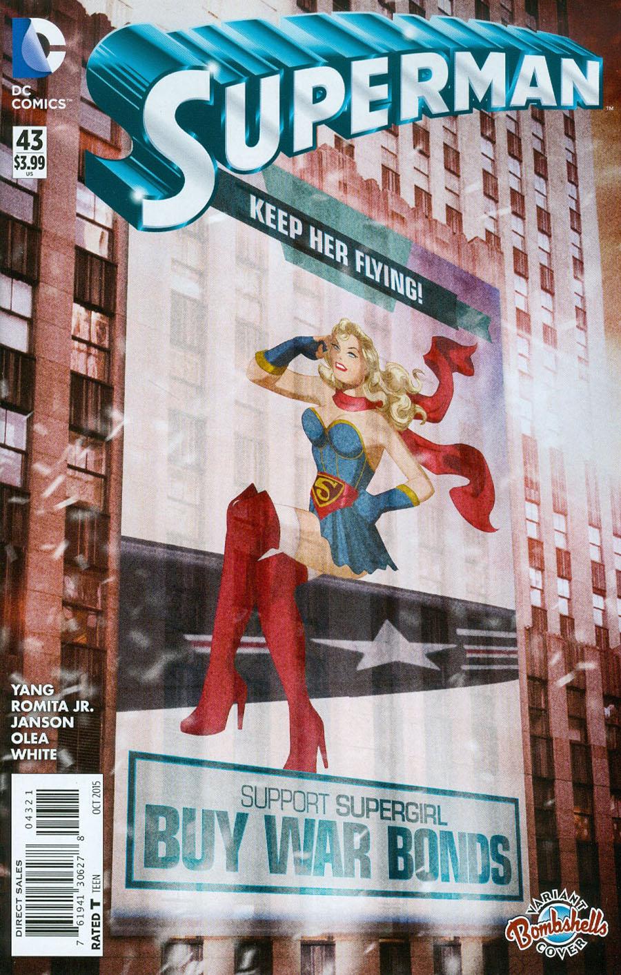 Superman Vol 4 #43 Cover B Variant Des Taylor DC Bombshells Cover