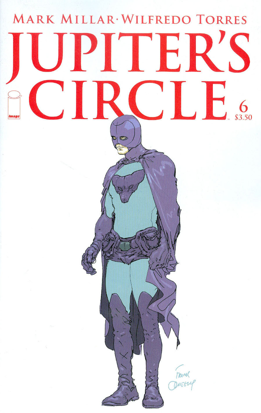 Jupiters Circle #6 Cover B Variant Frank Quitely Sketch Cover