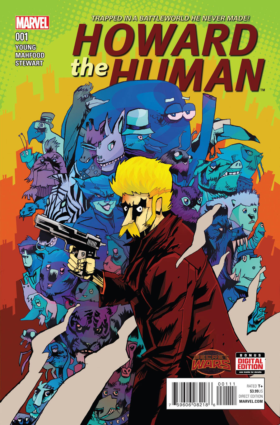 Howard The Human #1 Cover A Regular Jim Mahfood Cover (Secret Wars Warzones Tie-In)