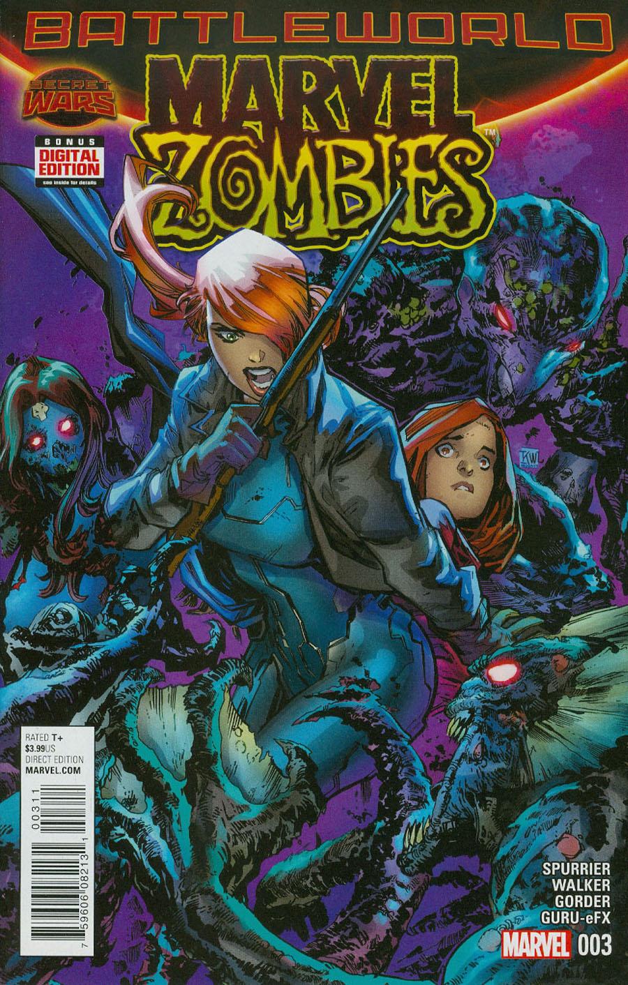 Marvel Zombies Vol 6 #3 Cover A Regular Ken Lashley Cover (Secret Wars Battleworld Tie-In)