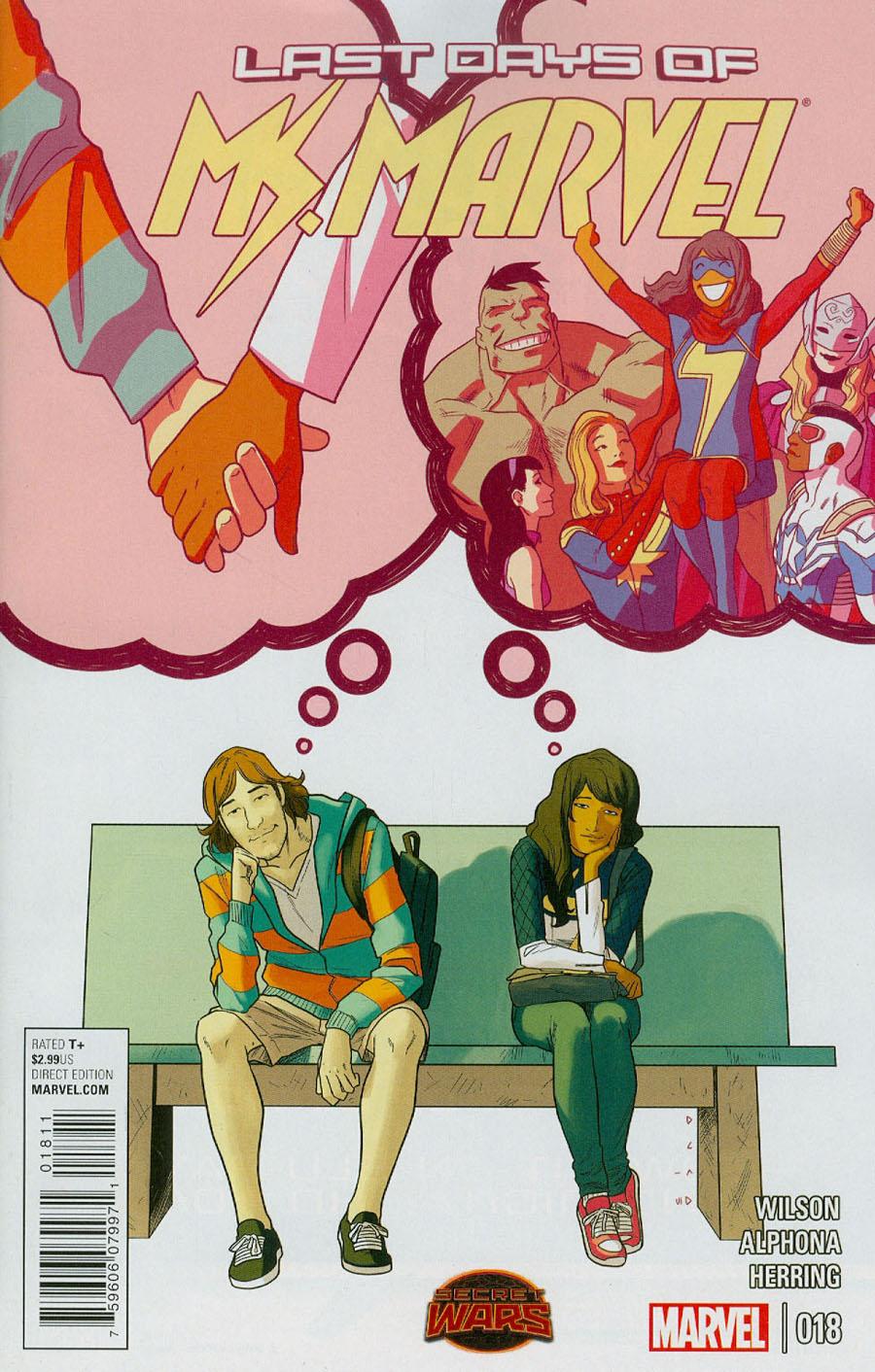 Ms Marvel Vol 3 #18 Cover A Regular Kris Anka Cover (Secret Wars Last Days Tie-In)