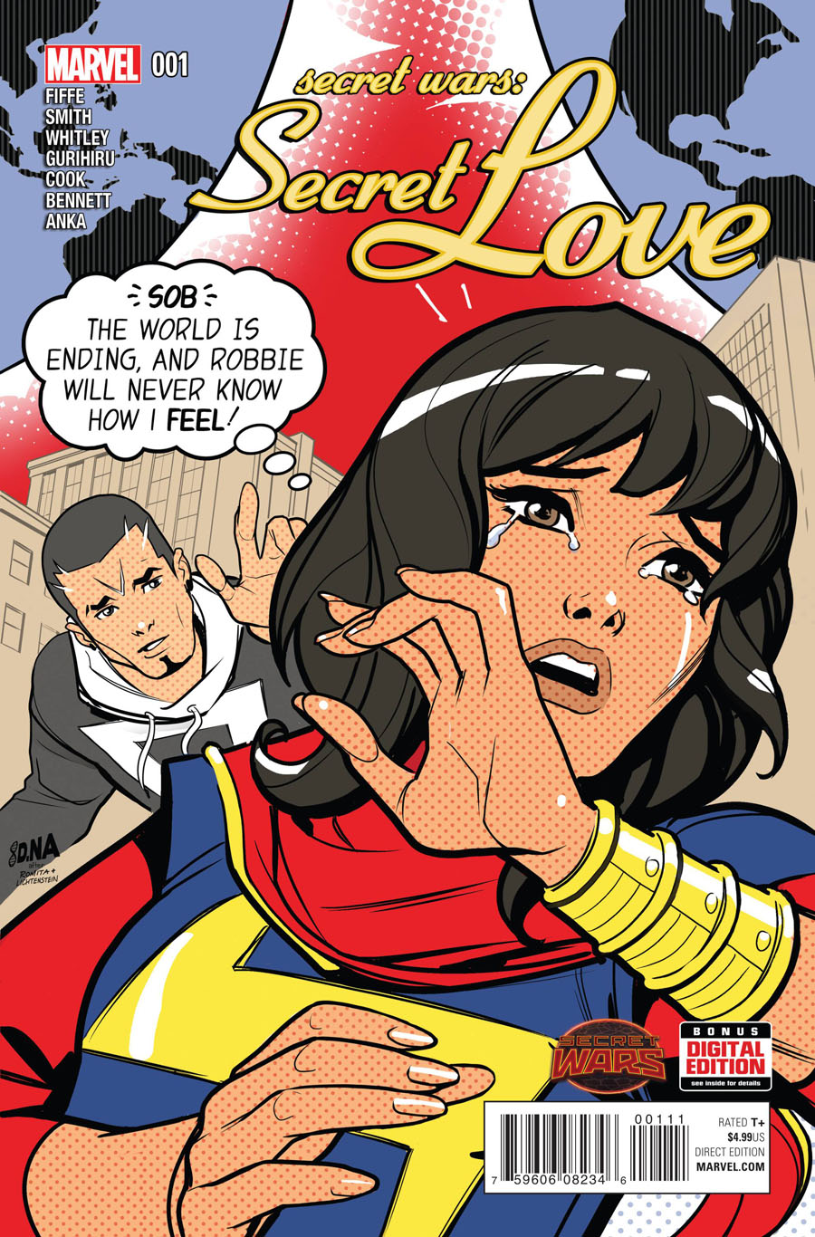 Secret Wars Secret Love #1 Cover A 1st Ptg Regular David Nakayama Cover (Secret Wars Battleworld Tie-In)