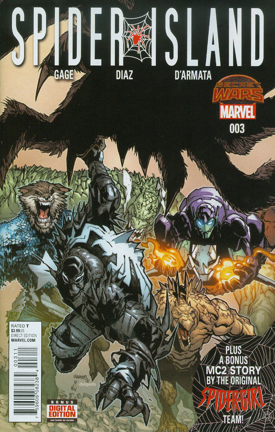 Spider-Island #3 Cover A Regular Humberto Ramos Cover (Secret Wars Warzones Tie-In)