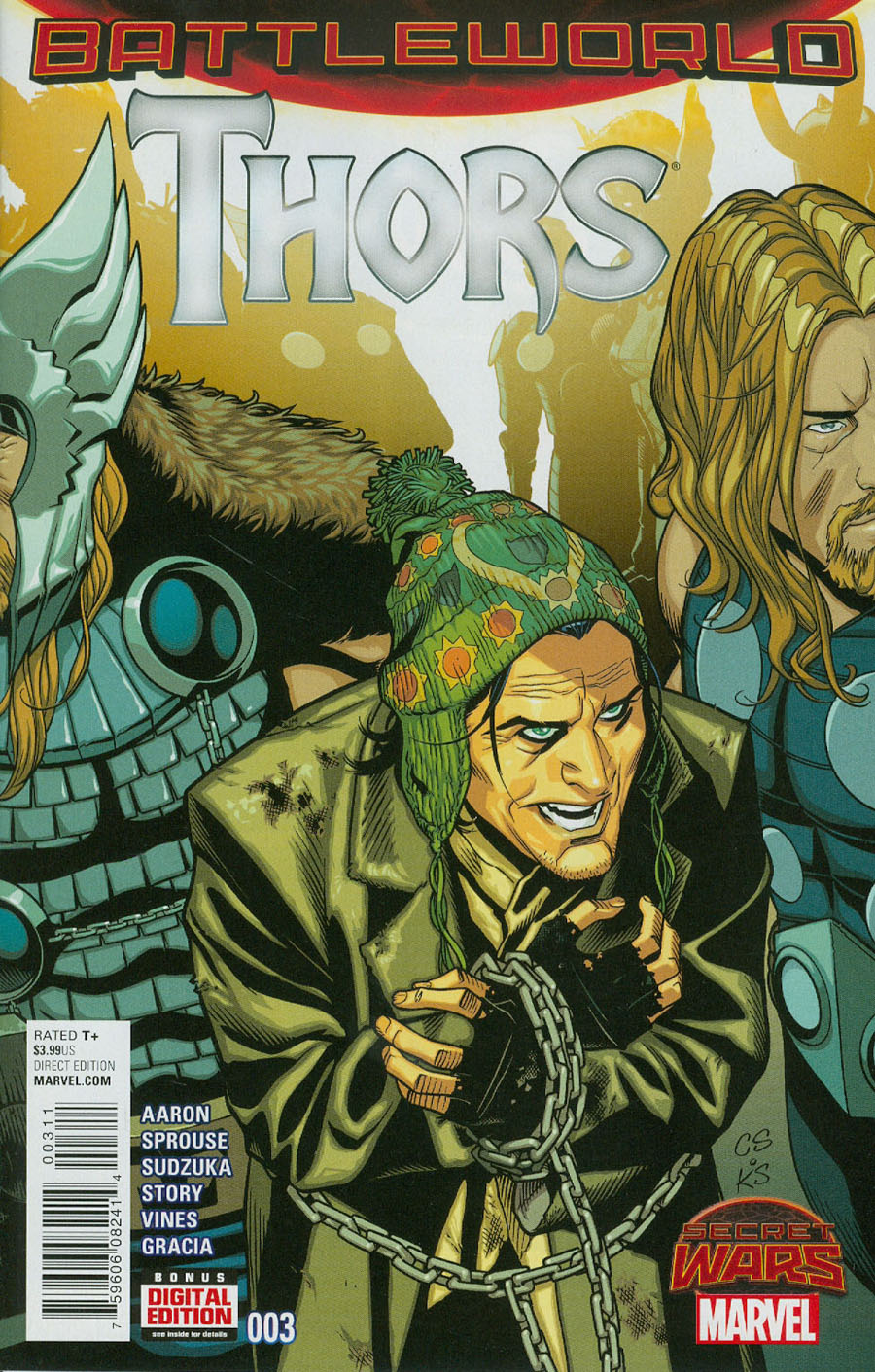 Thors #3 Cover A Regular Chris Sprouse Cover (Secret Wars Battleworld Tie-In)