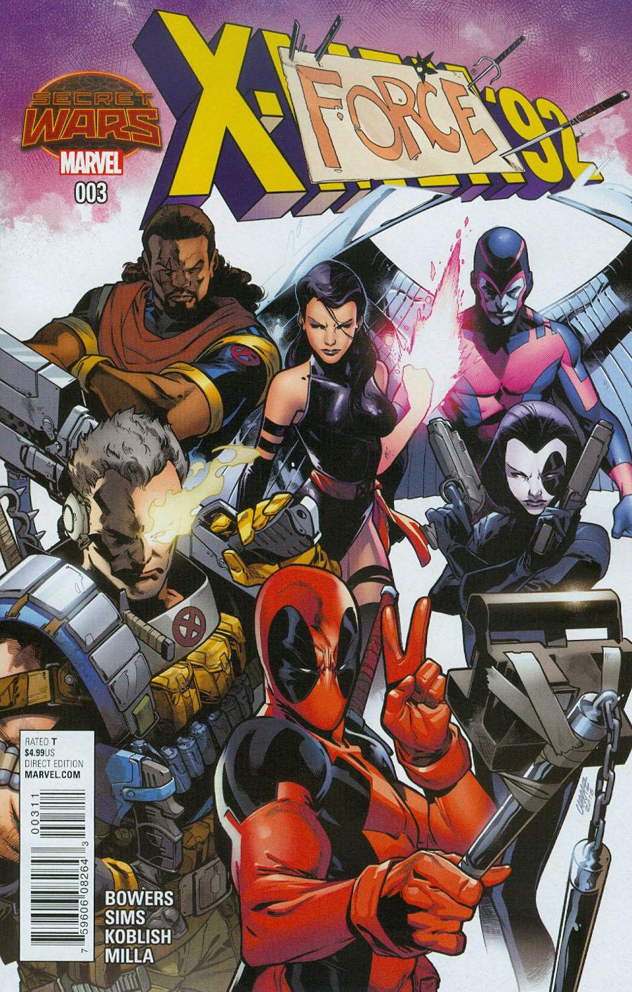 X-Men 92 #3 Cover A Regular Pepe Larraz Cover (Secret Wars Warzones Tie-In)