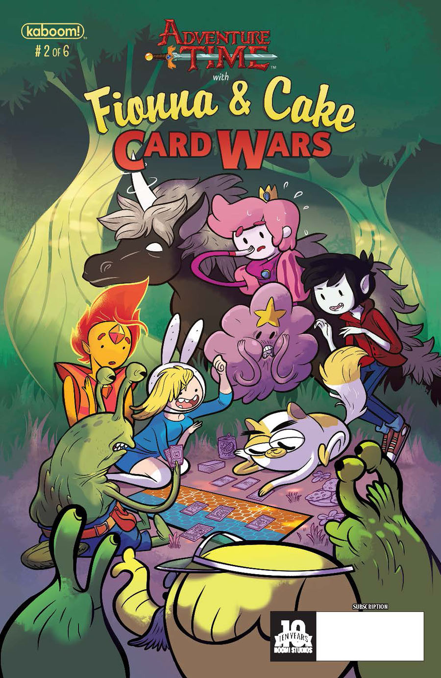 Adventure Time With Fionna & Cake Card Wars #2 Cover B Variant Nicole Hamilton Subscription Cover