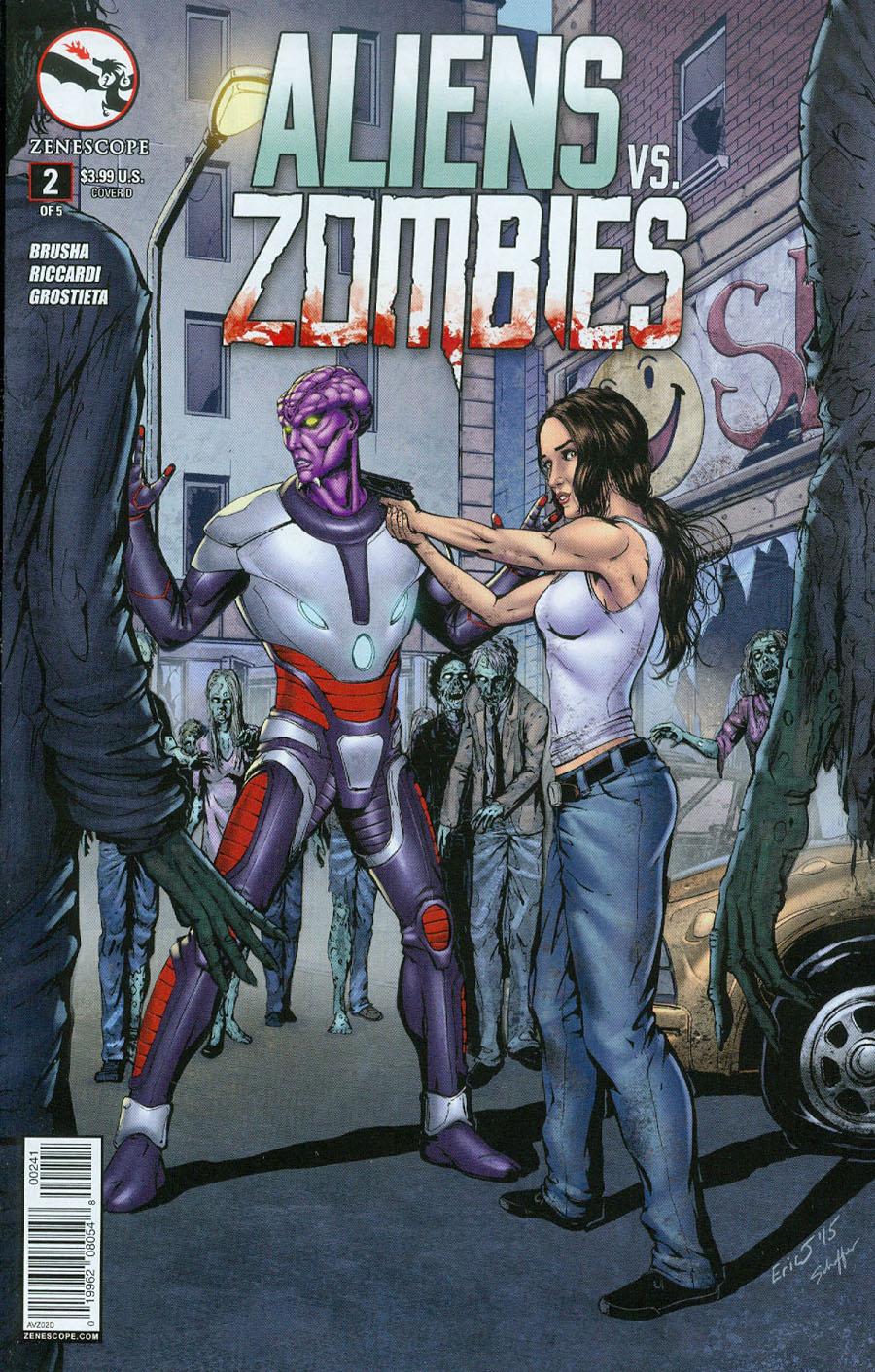 Aliens vs Zombies #2 Cover D Eric J