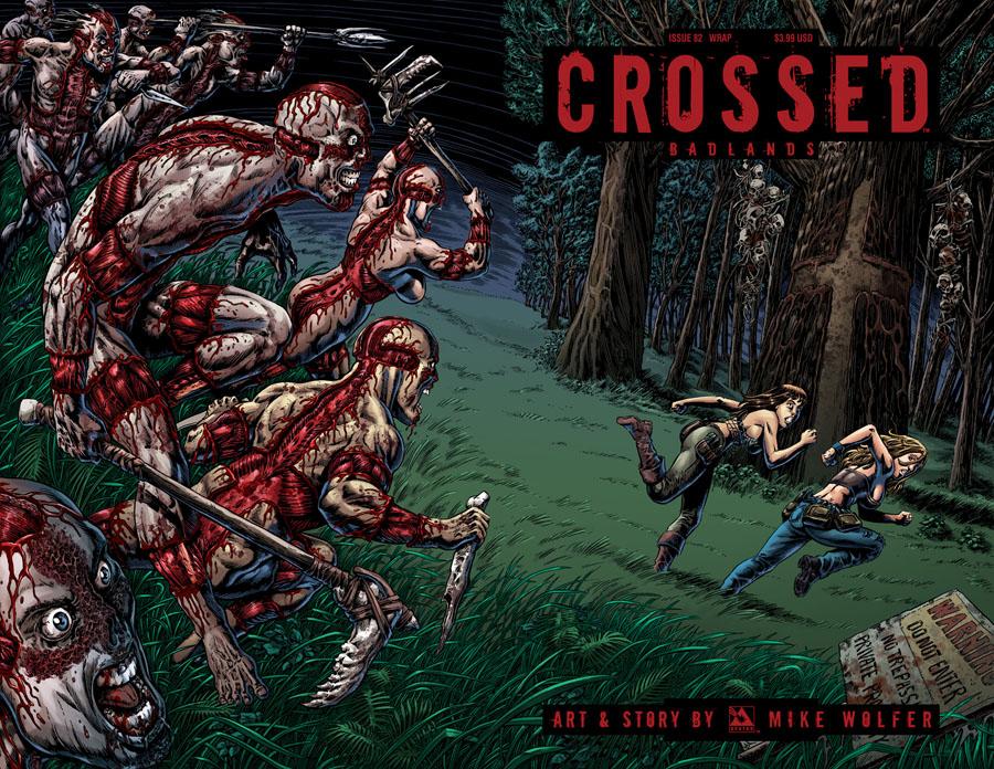 Crossed Badlands #82 Cover C Wraparound Cover
