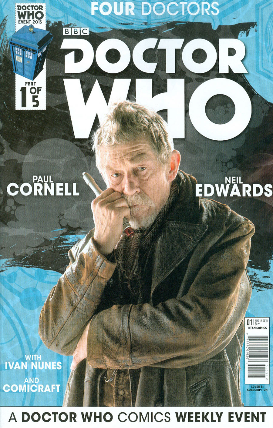 Doctor Who Event 2015 Four Doctors #1 Cover B Variant Interlinking Photo Subscription Cover