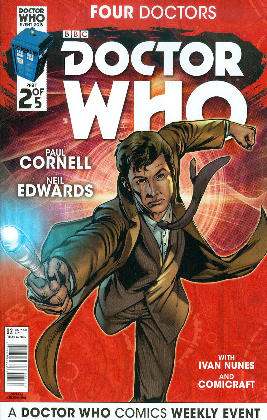 Doctor Who Event 2015 Four Doctors #2 Cover A Regular Neil Edwards Interlinking Doctor Cover