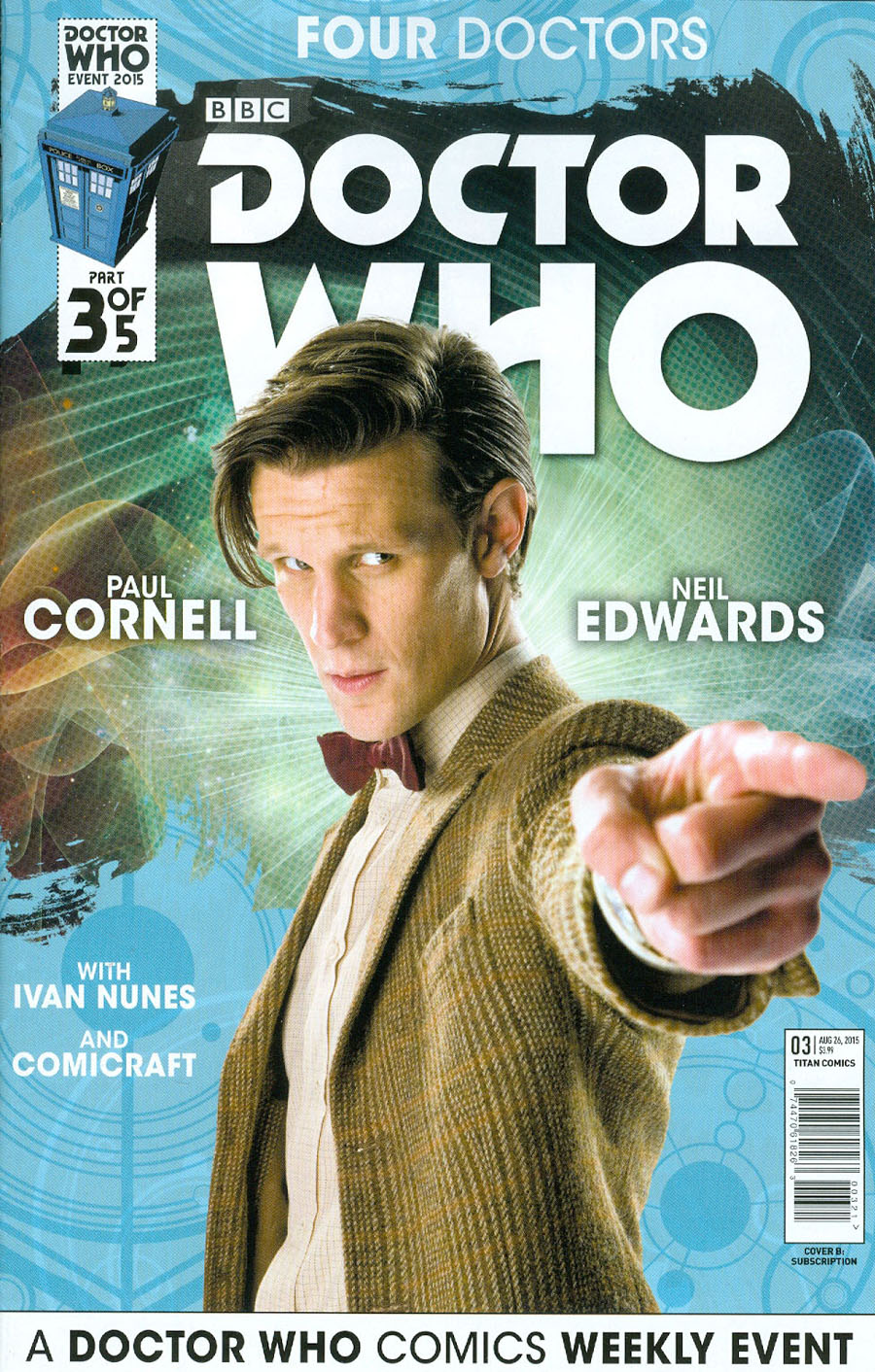 Doctor Who Event 2015 Four Doctors #3 Cover B Variant Interlinking Photo Subscription Cover
