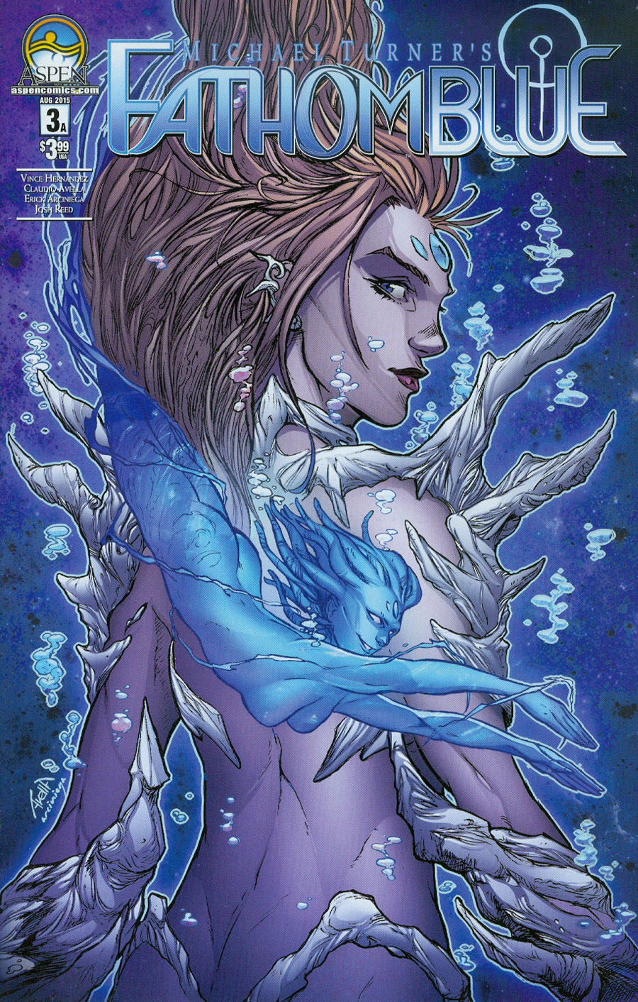 Fathom Blue #3 Cover A Regular Claudio Avella Cover