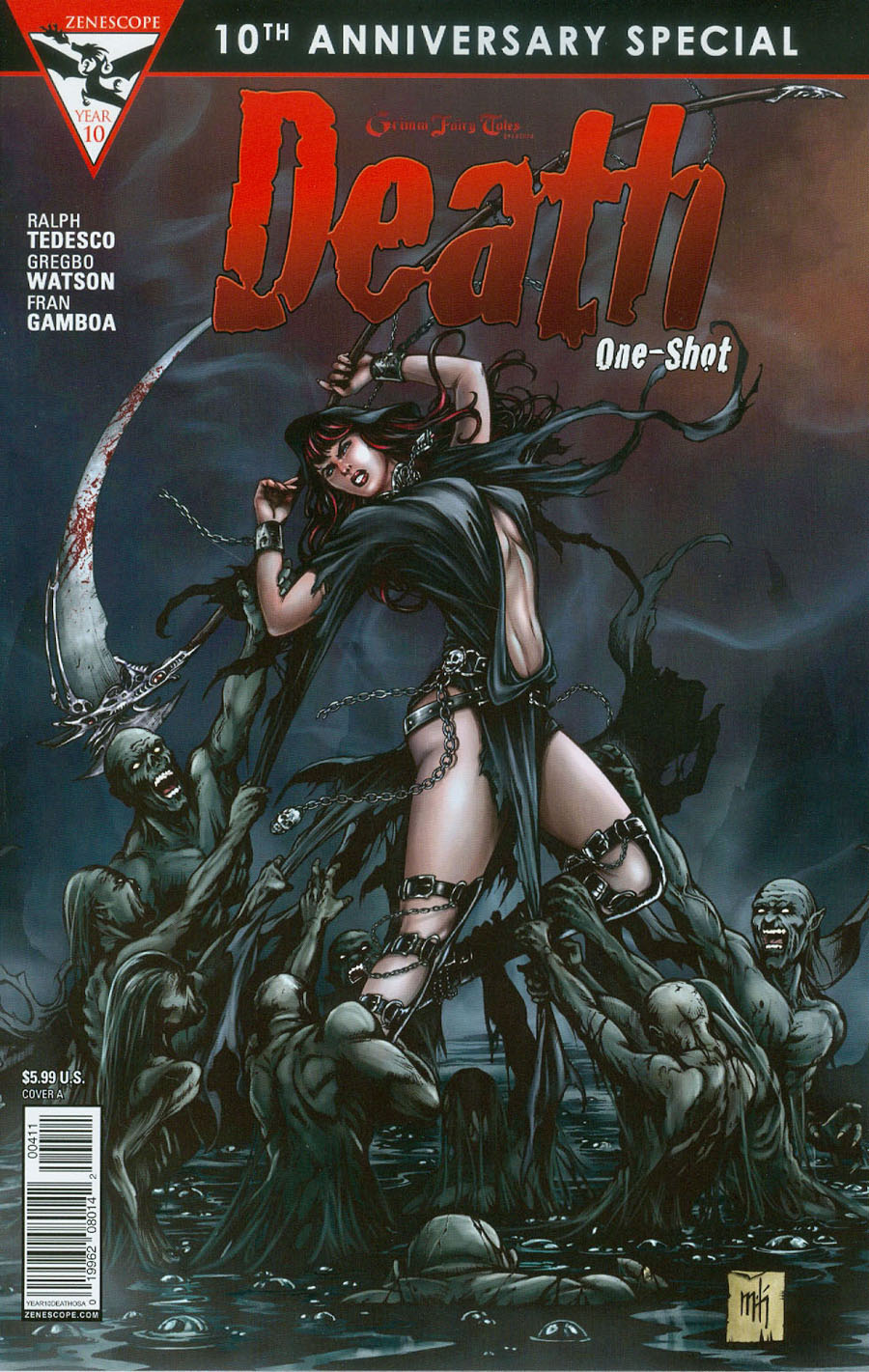 Grimm Fairy Tales Presents 10th Anniversary Special #4 Death Cover A Mike Krome