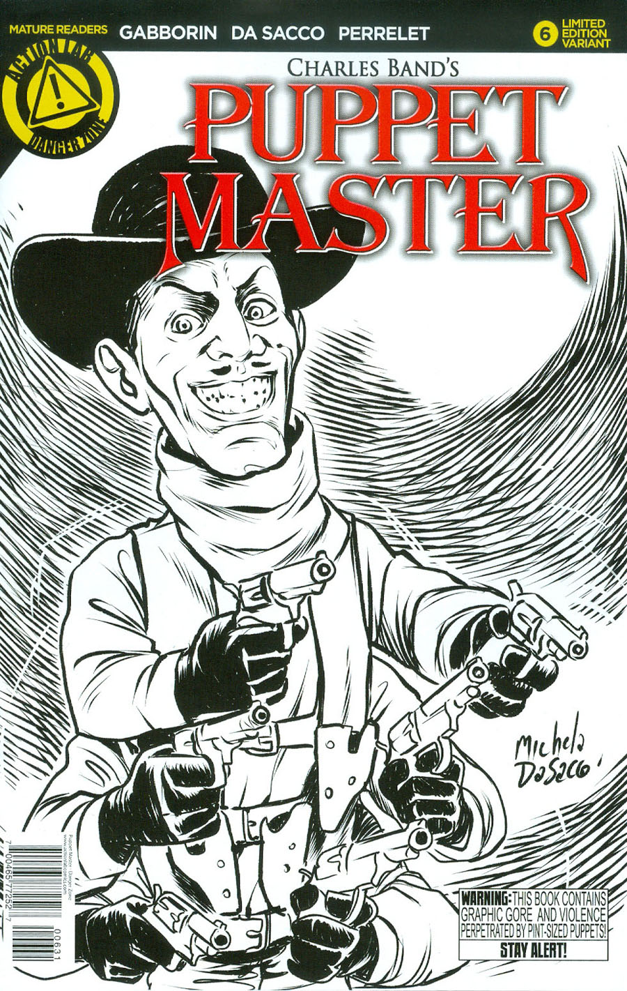 Puppet Master #6 Cover C Variant Six Shooter Sketch Cover