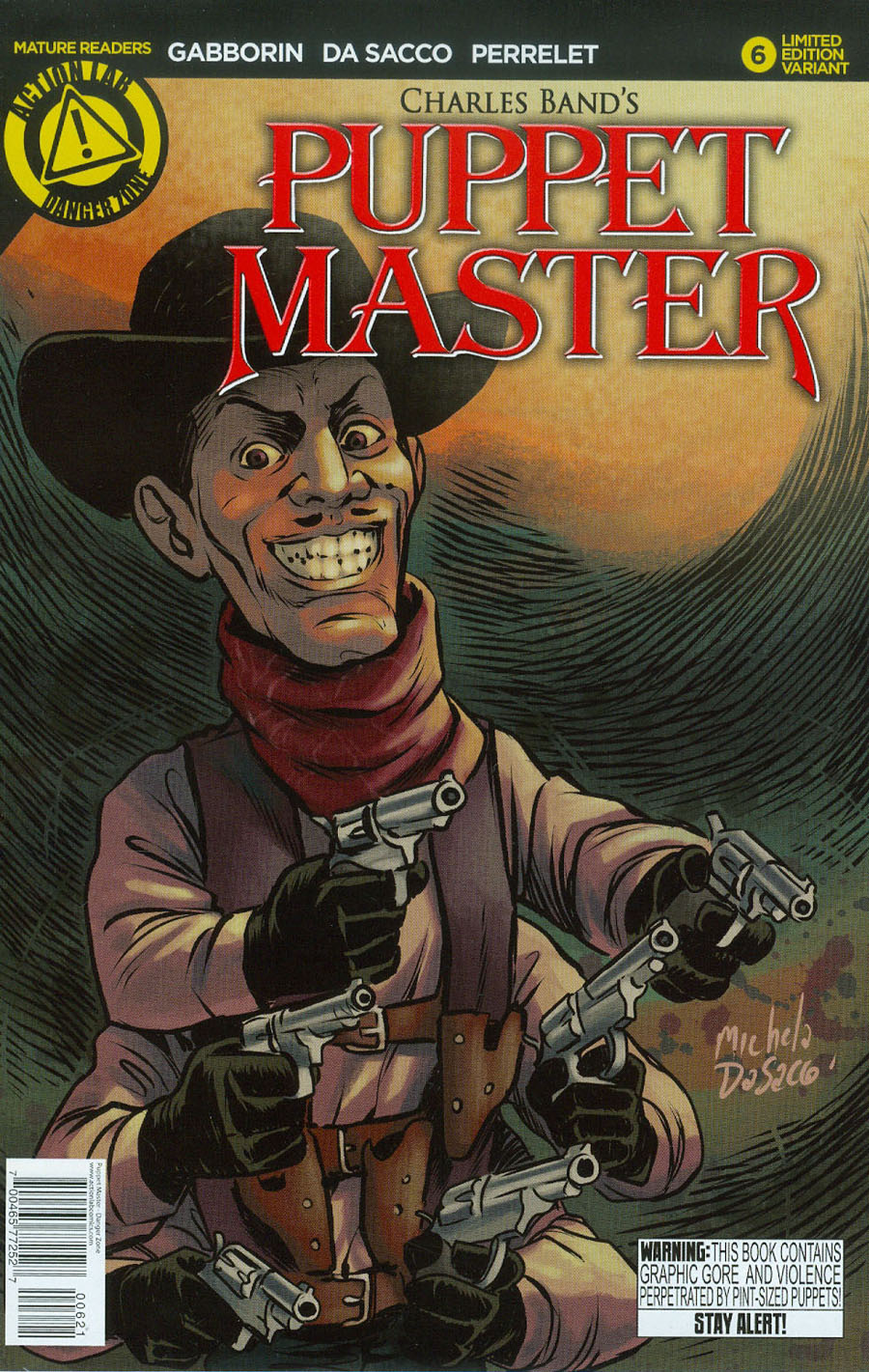 Puppet Master #6 Cover B Variant Six Shooter Color Cover