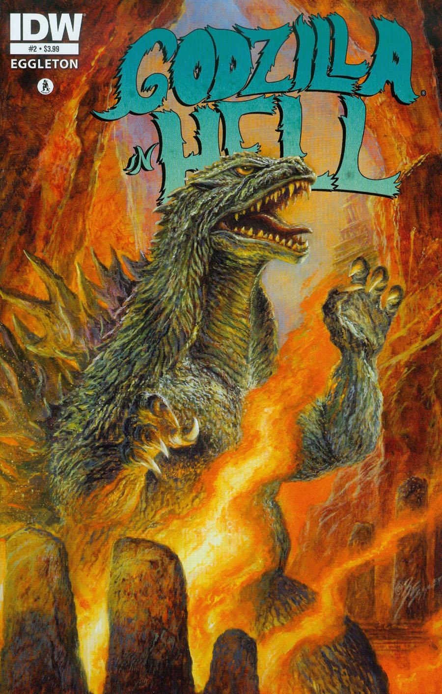 Godzilla In Hell #2 Cover A 1st Ptg Regular Bob Eggleton Cover