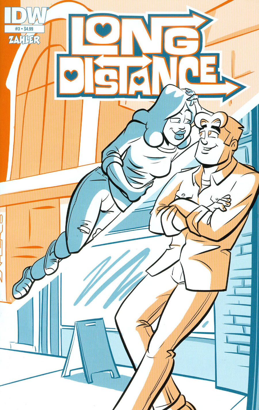 Long Distance #3 Cover A Regular Thomas F Zahler Cover