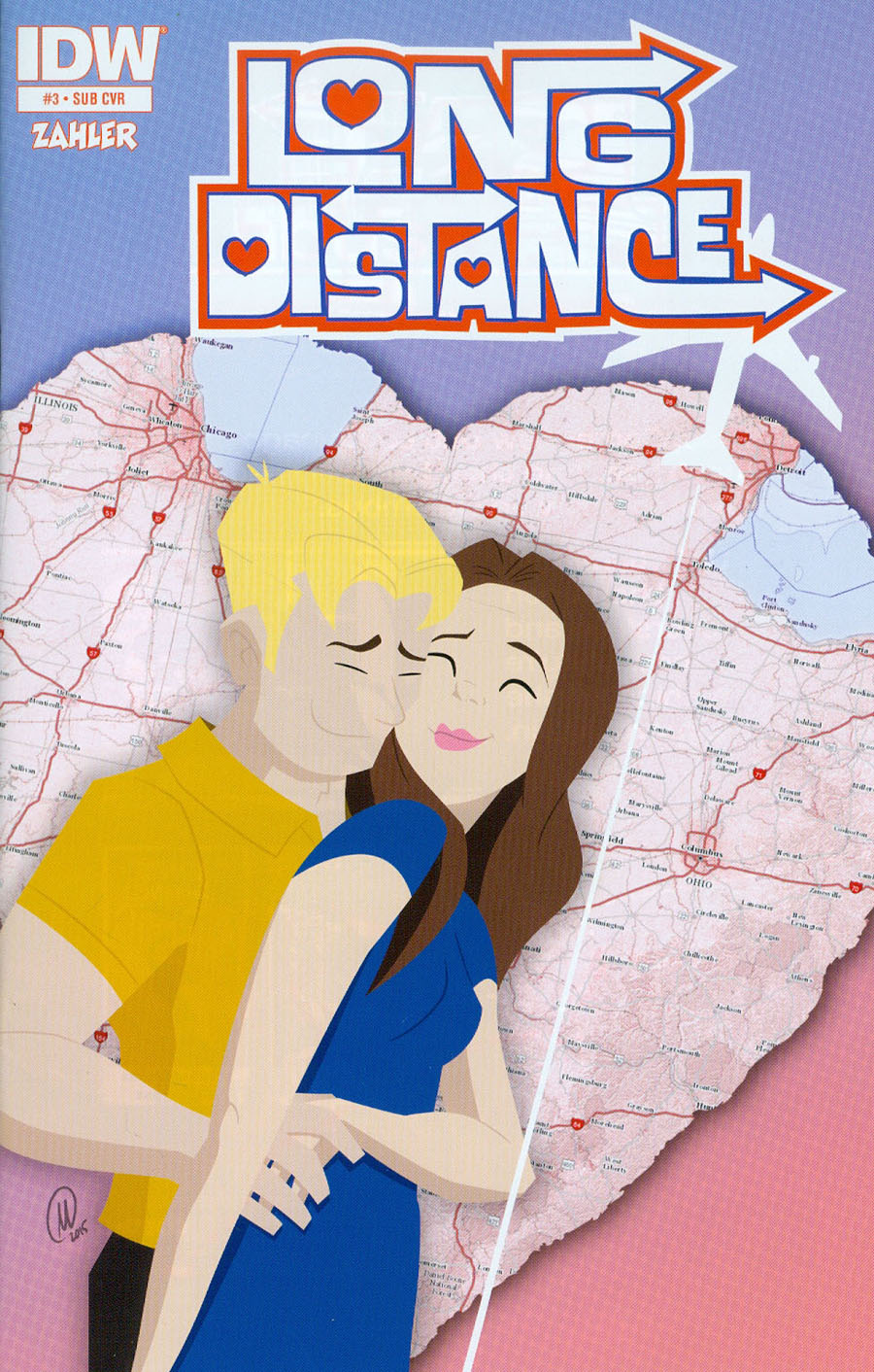 Long Distance #3 Cover B Variant Mike Collins Subscription Cover