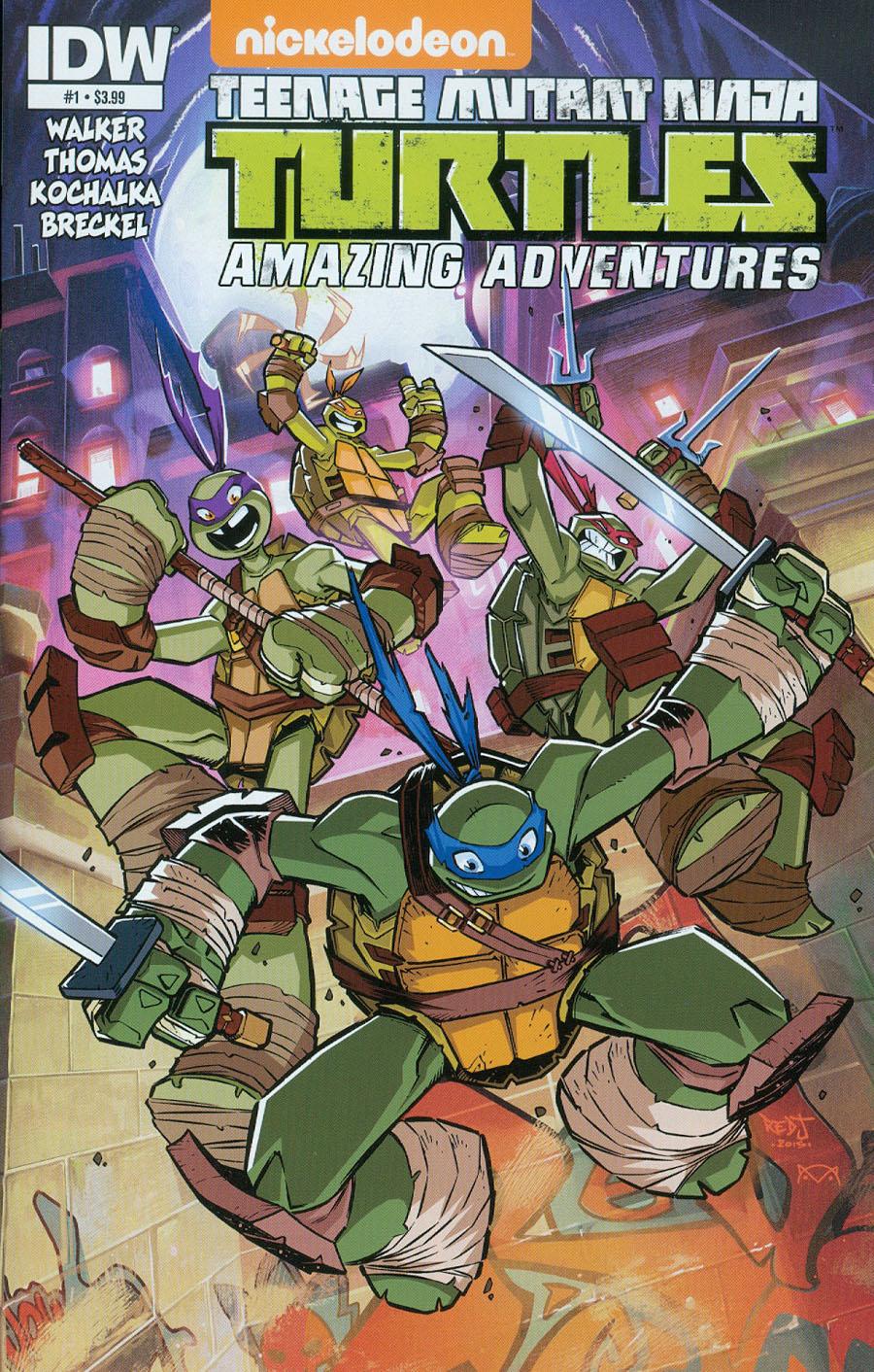 Teenage Mutant Ninja Turtles Amazing Adventures #1 Cover A Regular Jon Sommariva Cover