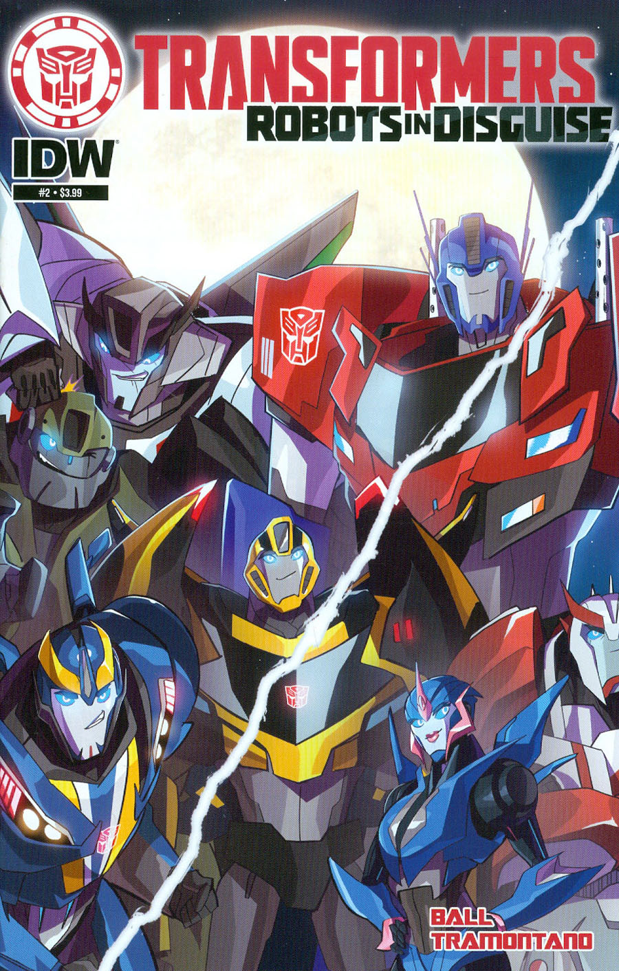 Transformers Robots In Disguise Animated #2 Cover A Regular Priscilla Tramontano Cover