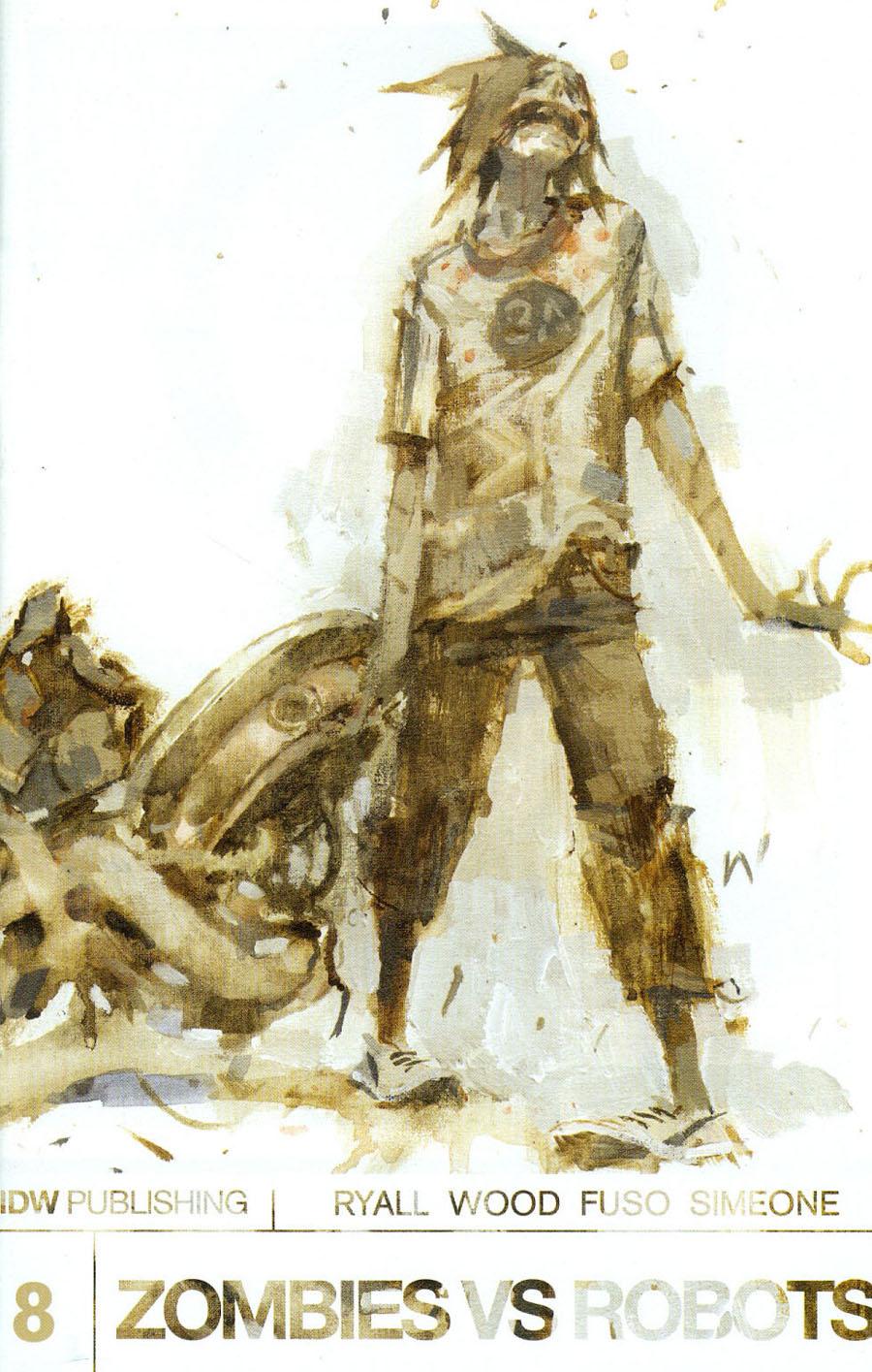 Zombies vs Robots Vol 2 #8 Cover A Regular Ashley Wood Cover