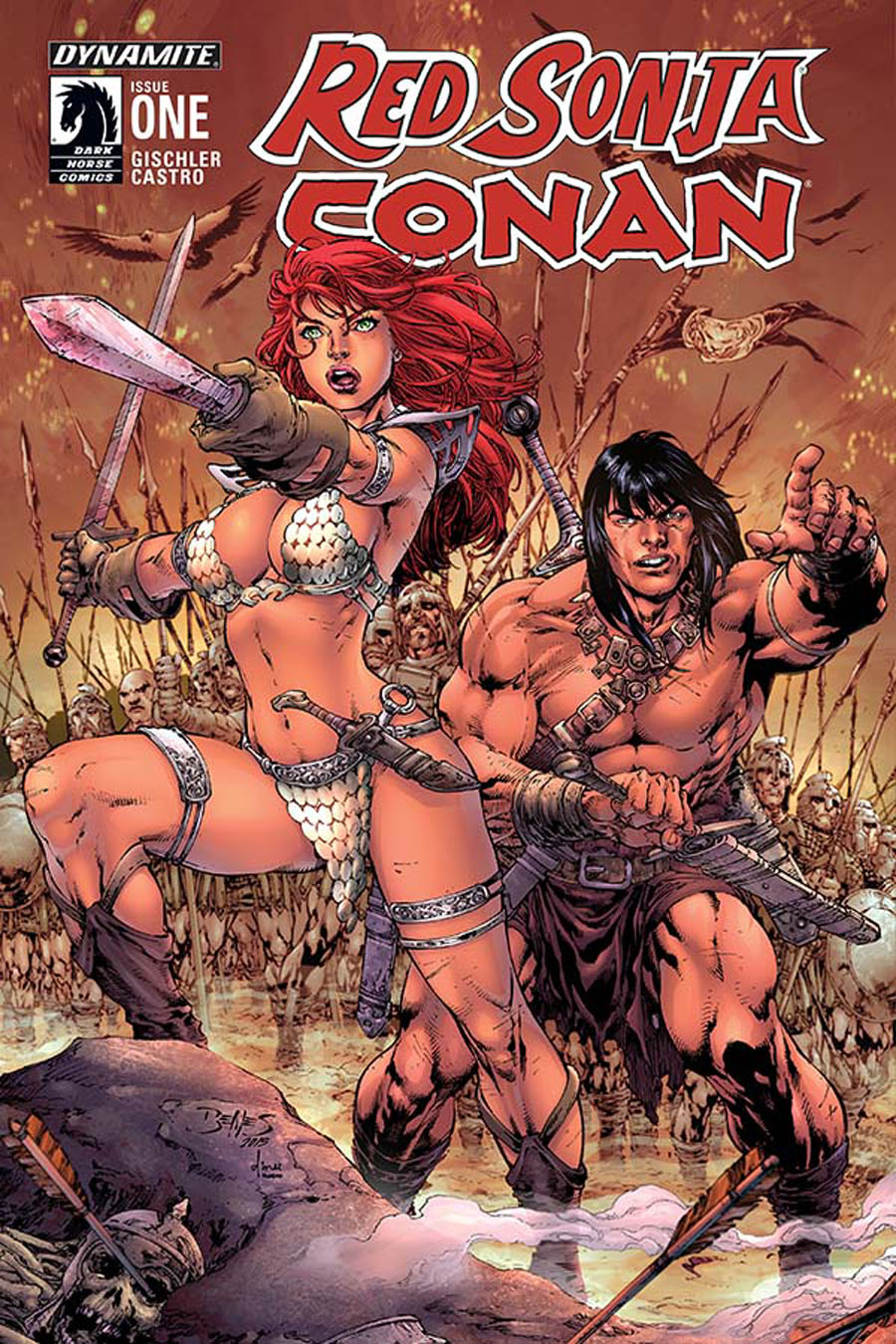 Red Sonja Conan #1 Cover B Variant Ed Benes Cover