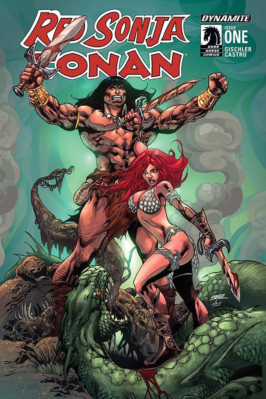 Red Sonja Conan #1 Cover C Variant Roberto Castro Subscription Cover