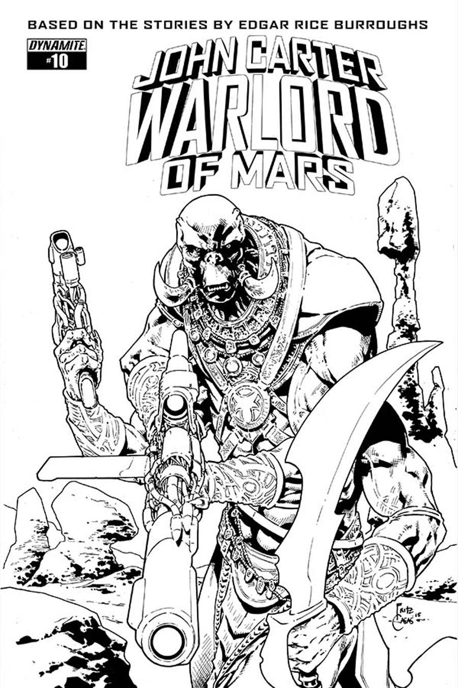 John Carter Warlord Of Mars Vol 2 #10 Cover E Incentive Fritz Casas Black & White Cover