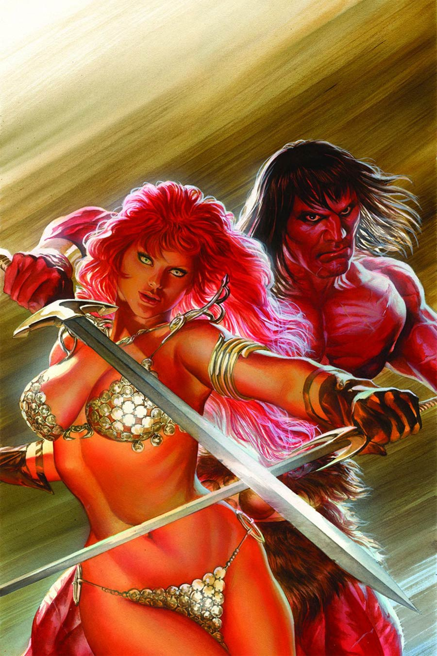 Red Sonja Conan #1 Cover G Rare Alex Ross Virgin Cover Signed Edition