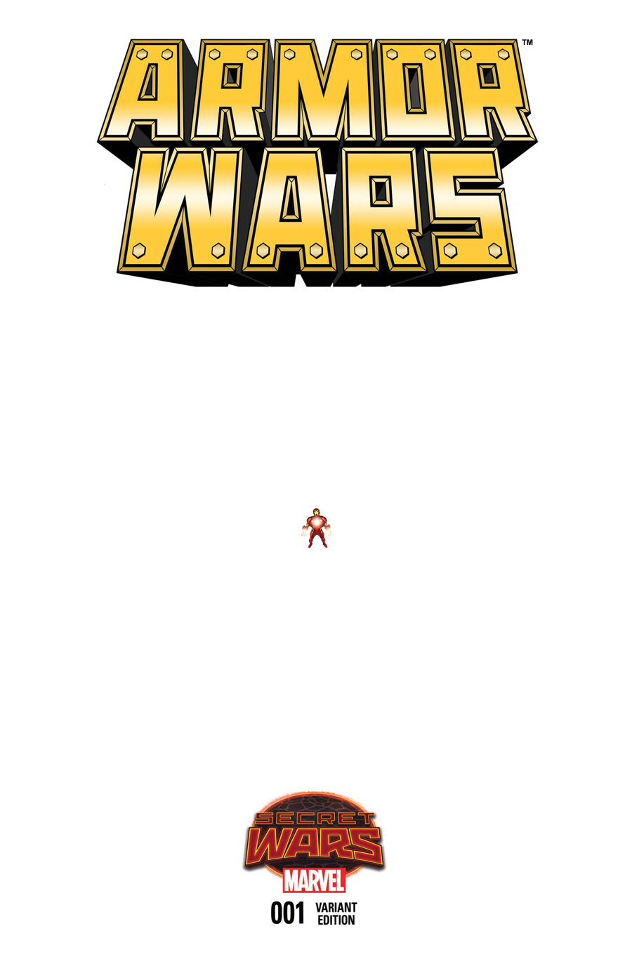 Armor Wars #1 Cover F Incentive Pasqual Ferry Ant-Sized Variant Cover (Secret Wars Warzones Tie-In)