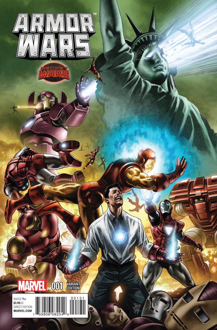 Armor Wars #1 Cover G Incentive Steve Pugh Variant Cover (Secret Wars Warzones Tie-In)