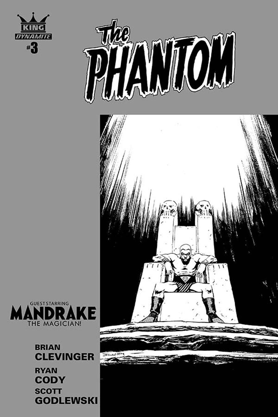 King Phantom #3 Cover B Incentive Declan Shalvey Black & White Cover