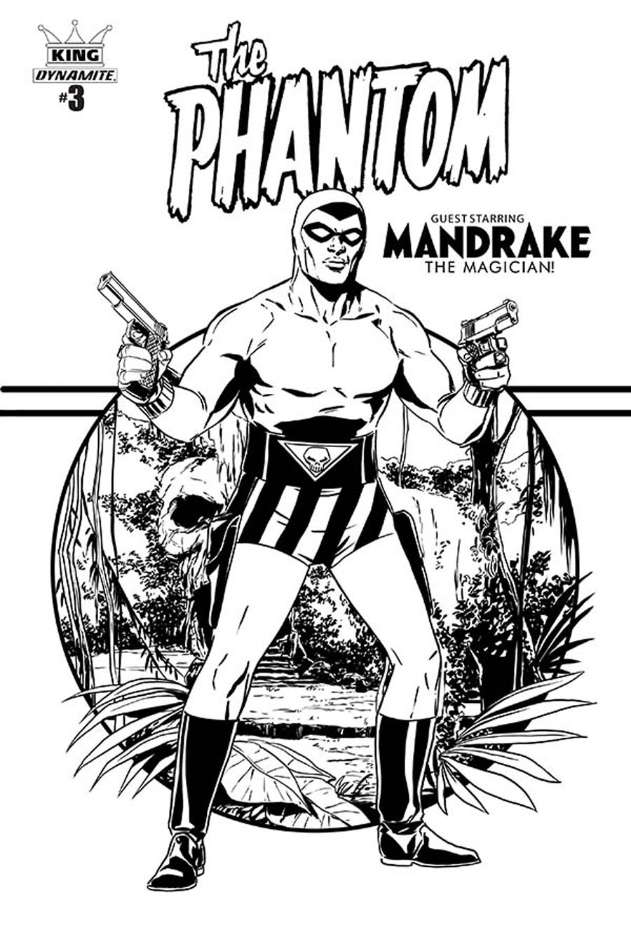 King Phantom #3 Cover D Incentive Marc Laming Black & White Cover