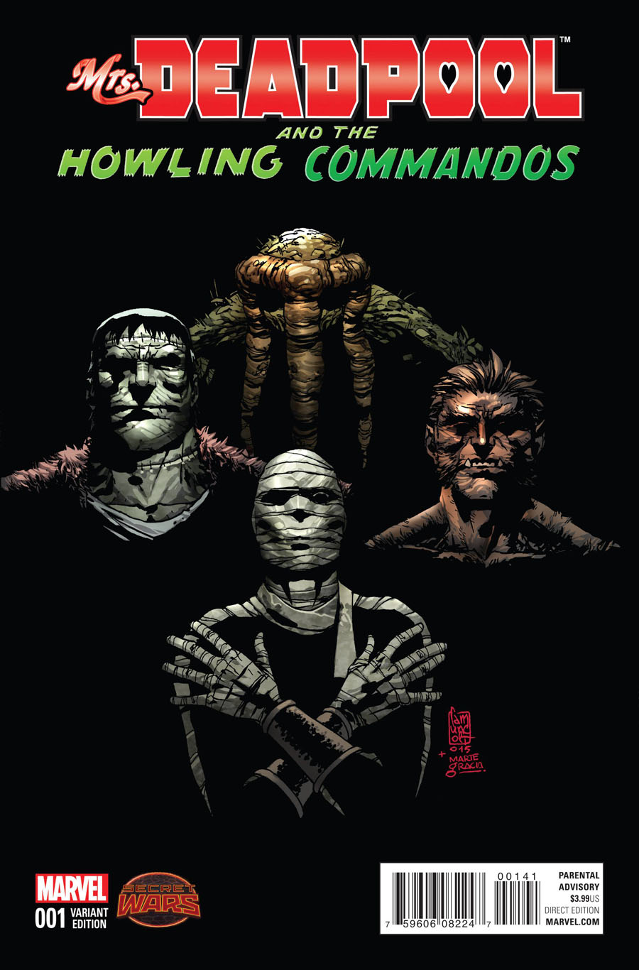 Mrs Deadpool And The Howling Commandos #1 Cover B Incentive Giuseppe Camuncoli Howling Variant Cover
