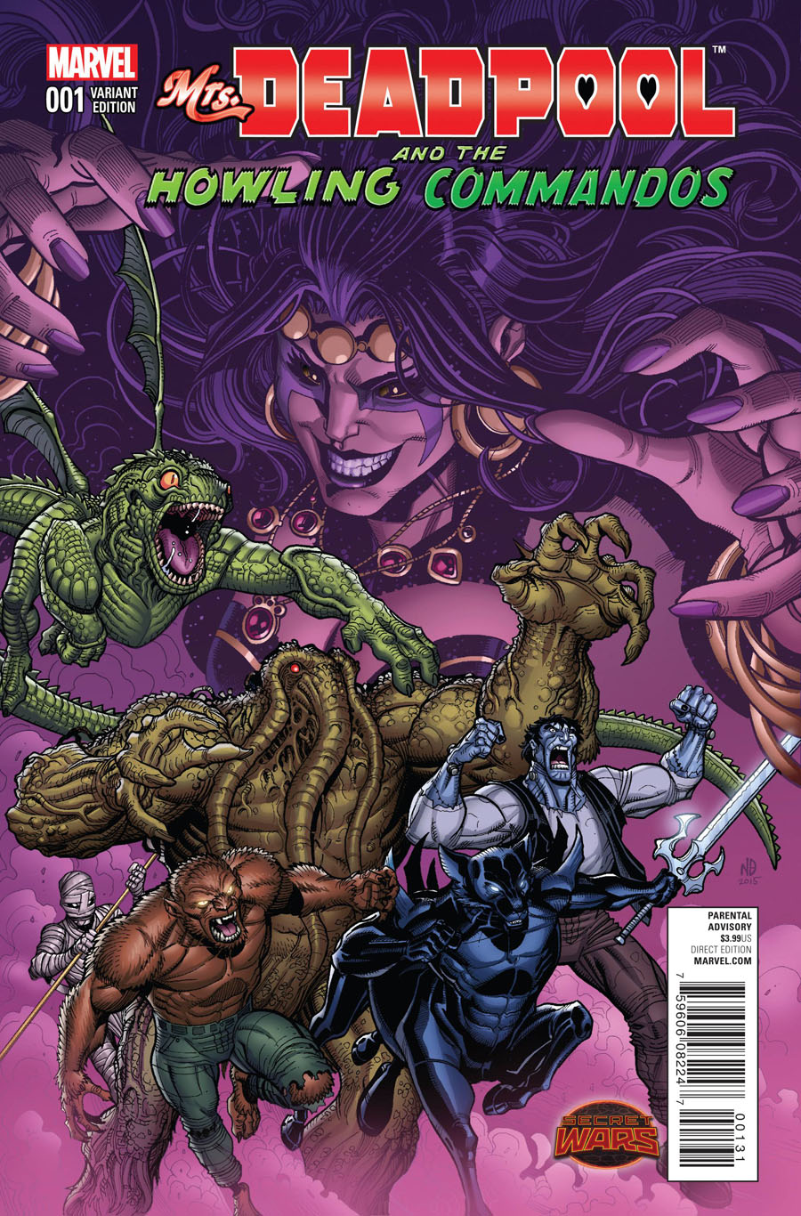 Mrs Deadpool And The Howling Commandos #1 Cover D Incentive Team Variant Cover