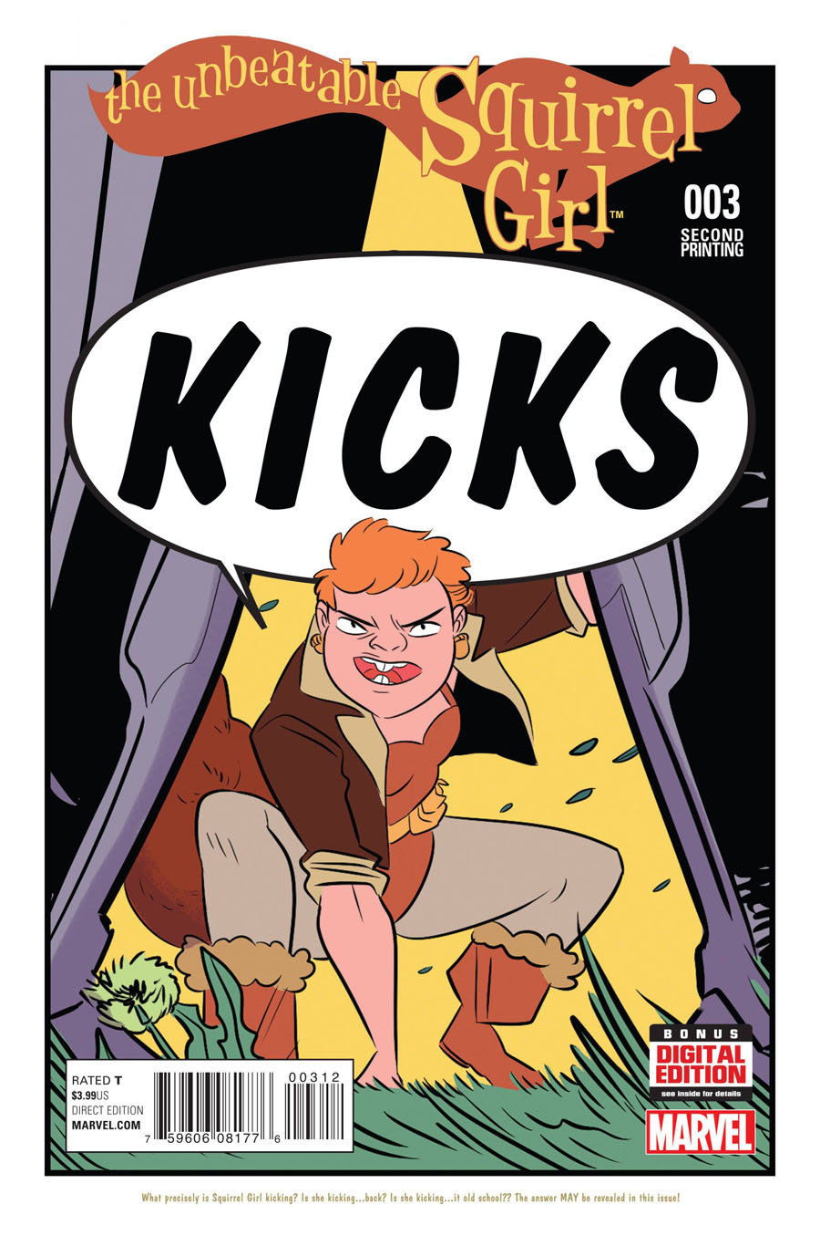 Unbeatable Squirrel Girl #3 Cover D 2nd Ptg Erica Henderson Variant Cover
