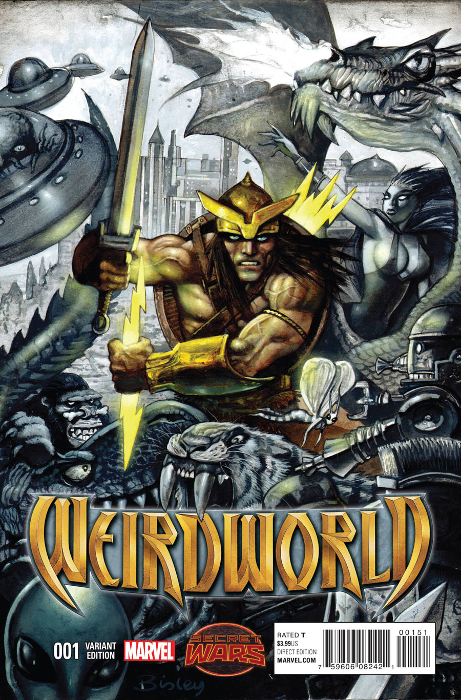Weirdworld #1 Cover F Incentive Simon Bisley Variant Cover (Secret Wars Warzones Tie-In)