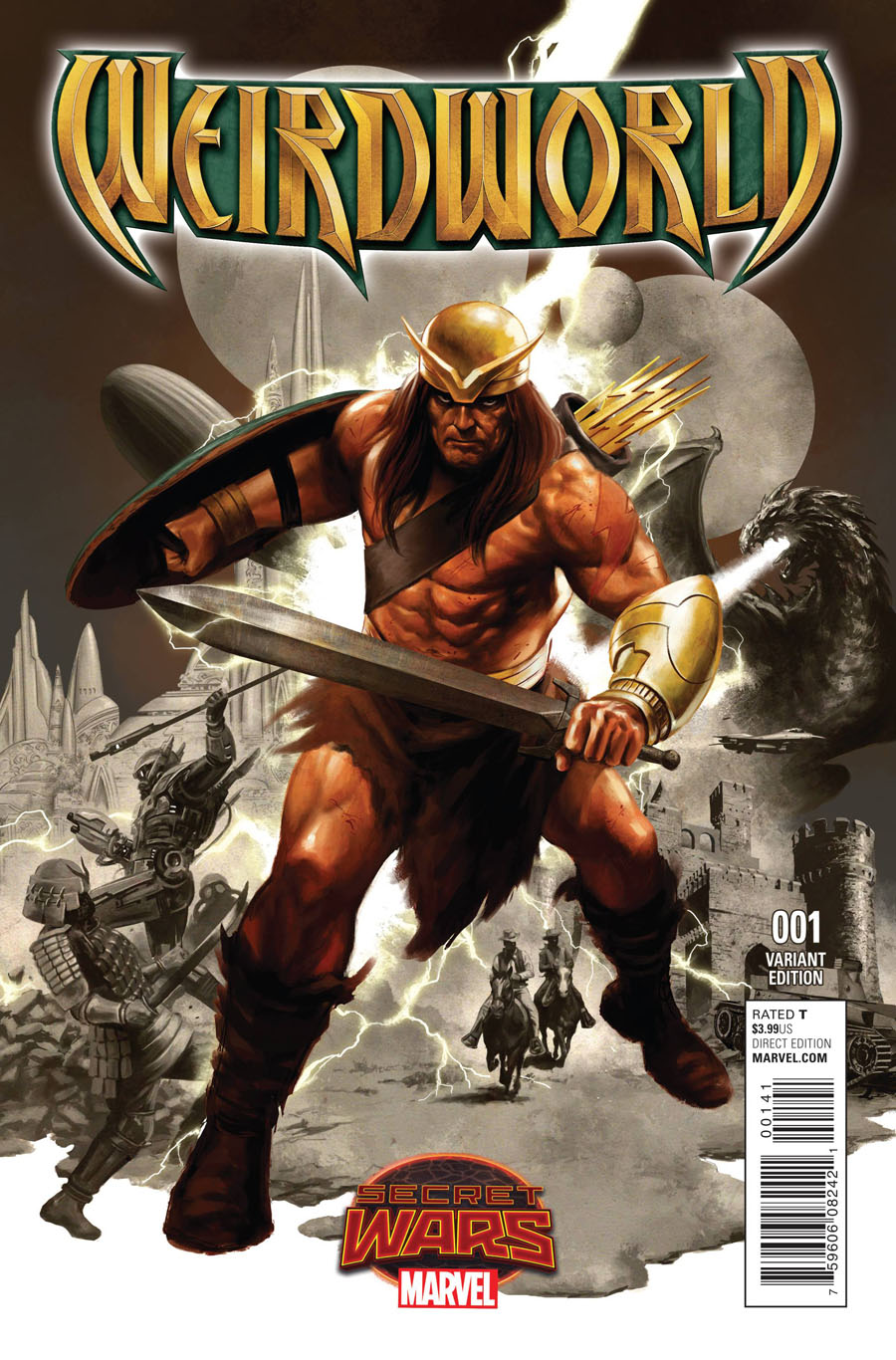 Weirdworld #1 Cover G Incentive Steve Epting Variant Cover (Secret Wars Warzones Tie-In)